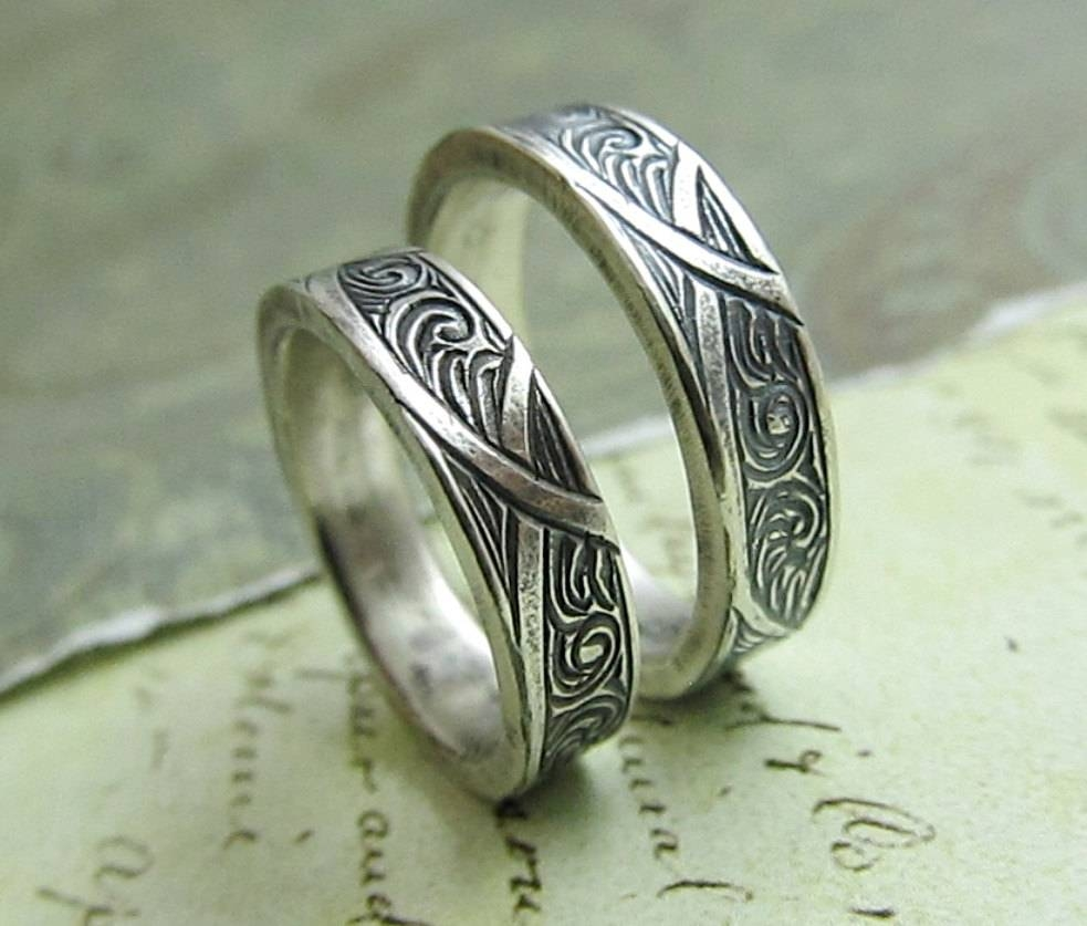 Ring Wooden Inlay Wedding Rings Safety Wedding Rings Men Silver For Safety Wedding Rings (View 6 of 15)
