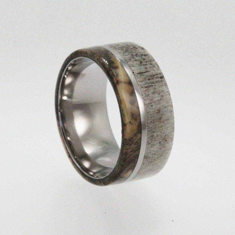 Ring Wooden Inlay Wedding Rings Wedding Ring Outlet Men Silver With Regard To Horn Inlay Titanium Wedding Bands (View 7 of 15)