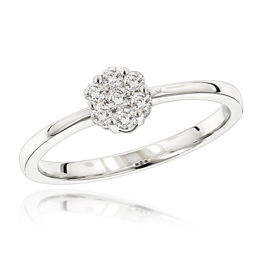 Rings 14k Pre Set Diamond Engagement Ring (View 8 of 15)