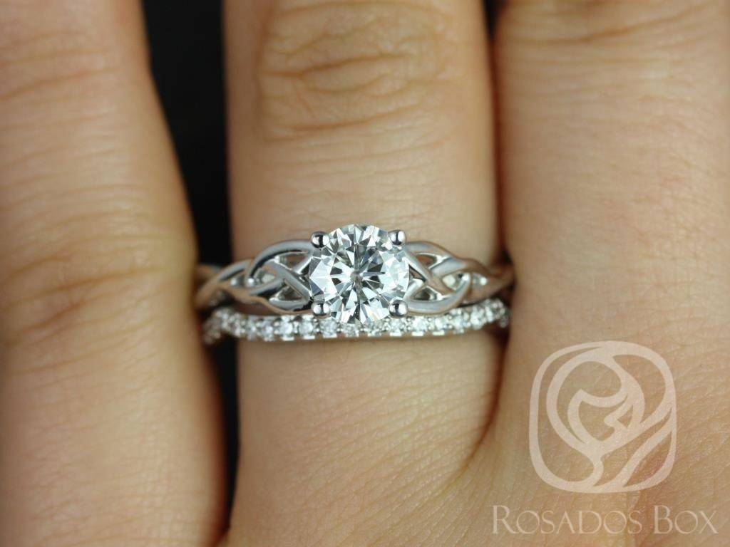 Rosados Box Cassidy 6Mm White Gold Round Diamond Celtic Knot With Celtic Knot Engagement Ring Setting (View 12 of 15)