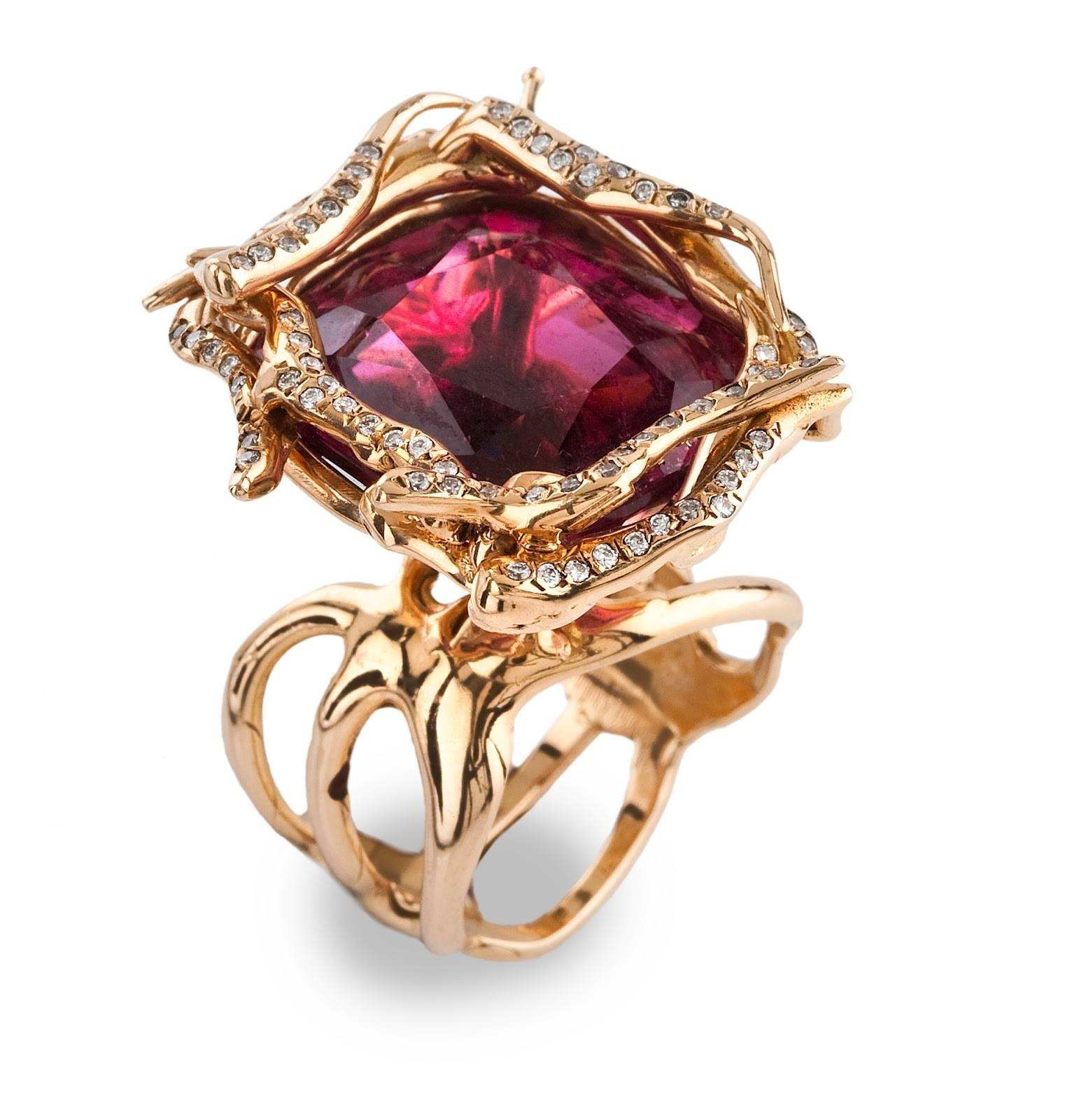 Rose Gold And Ruby Rings Lovely Jewelry News Network Tie The Knot Within Tie The Knot Engagement Rings (Gallery 8 of 15)