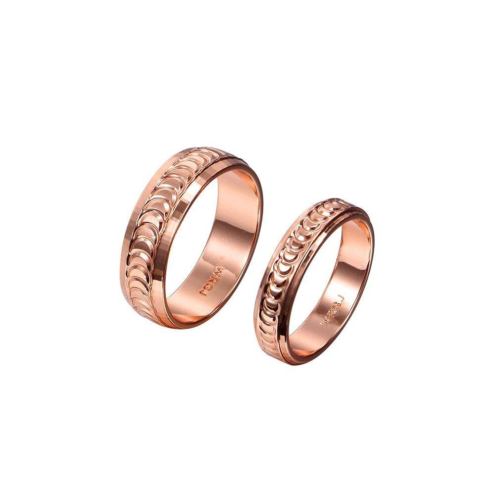 Rose Gold Couple Rings Fashion Promise Engagement Rings For Men Inside Couple Rose Gold Wedding Bands (View 10 of 15)