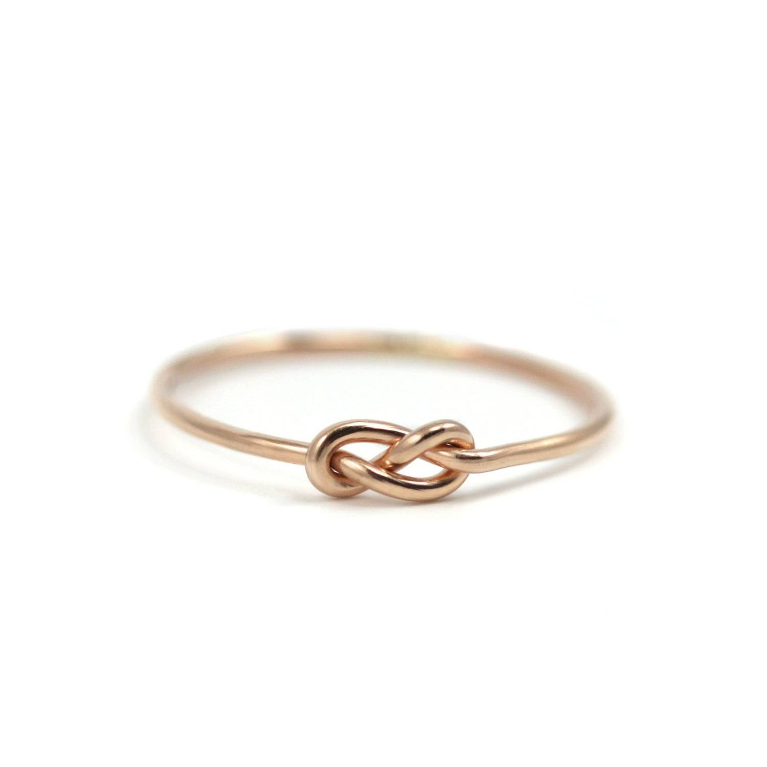 Rose Gold Infinity Knot Ring Handmade Gold Filled Knot Ring Inside Infinity Knot Engagement Rings (View 15 of 15)
