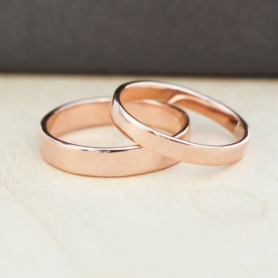 Featured Photo of Rose Gold Wedding Bands Sets
