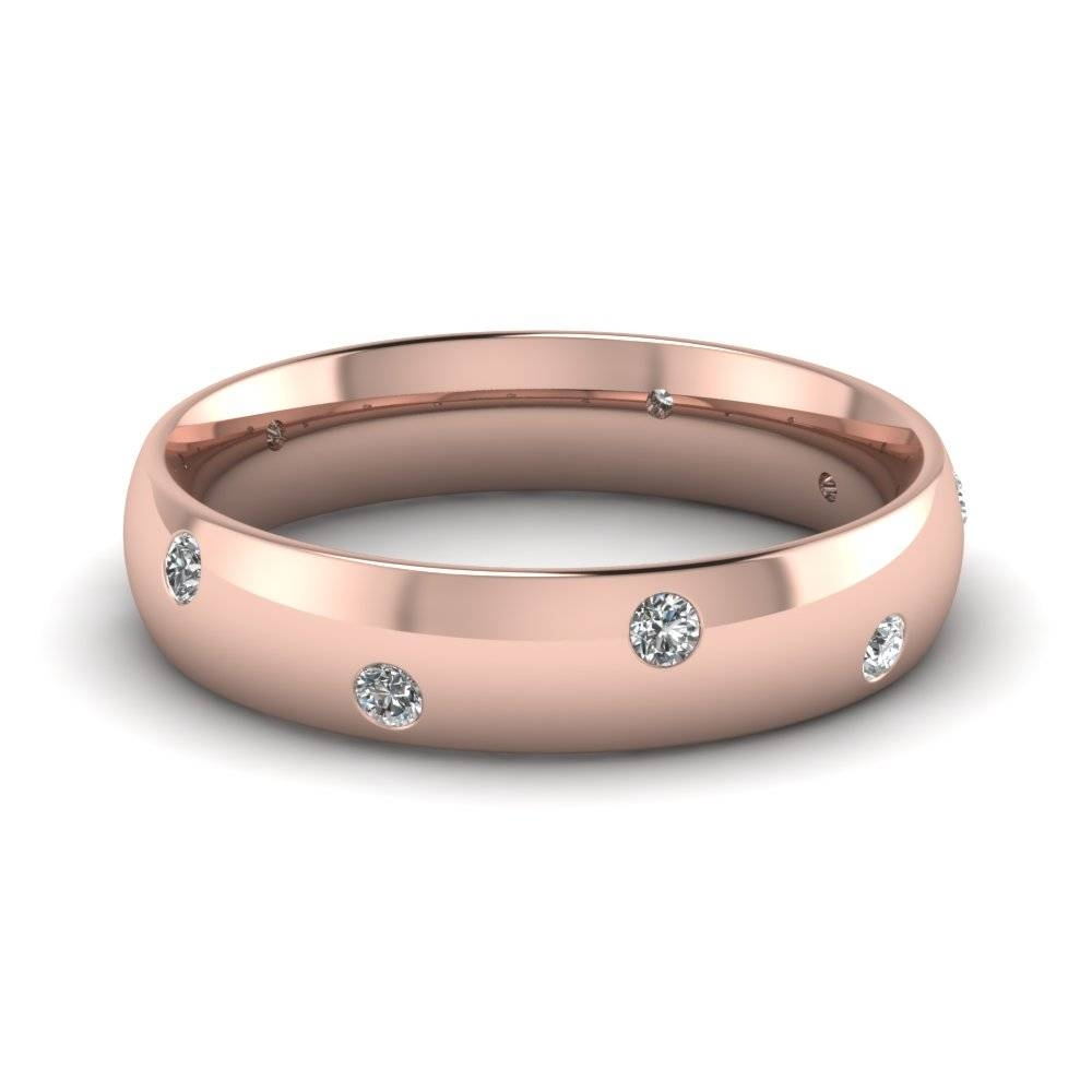 Rose Gold Wedding Bands For Him & Her | Fascinating Diamonds In Rose Gold Men's Wedding Bands With Diamonds (View 6 of 15)