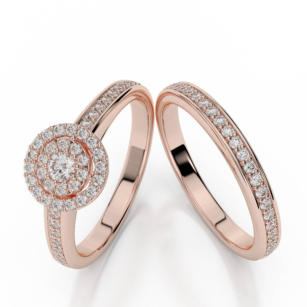 Rose Gold Wedding Ring Set | Best Wedding Products And Wedding Ideas In Couple Rose Gold Wedding Bands (View 12 of 15)