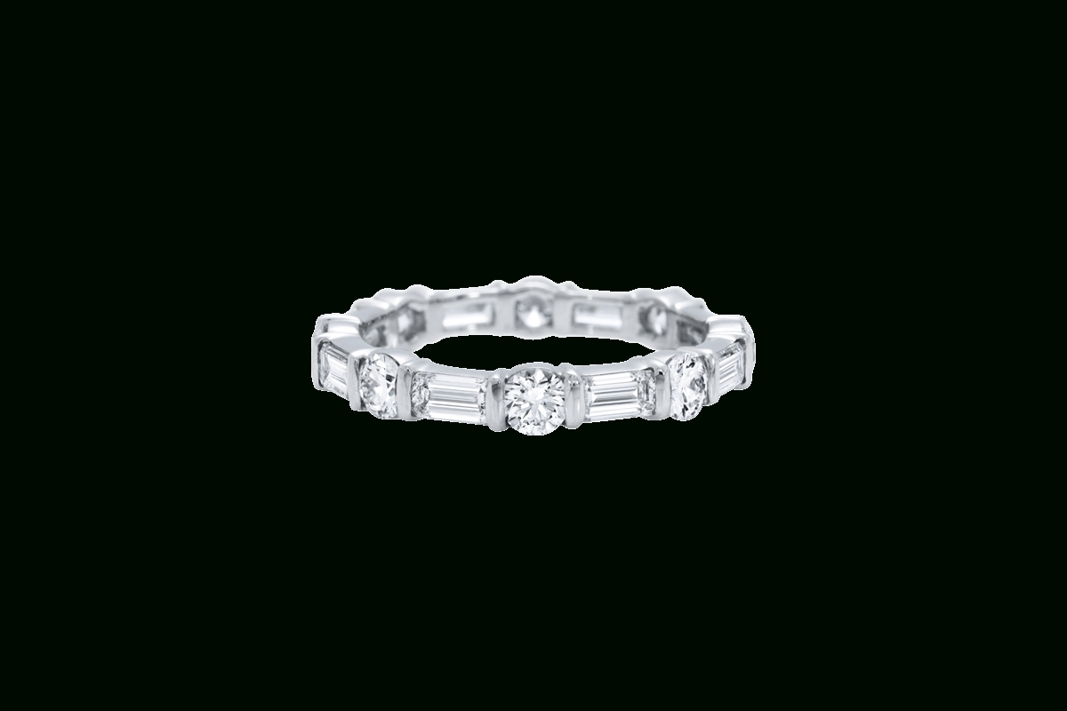 Round And Emerald Cut Diamond Band | Harry Winston With Regard To Harry Winston Wedding Bands Price (View 8 of 15)