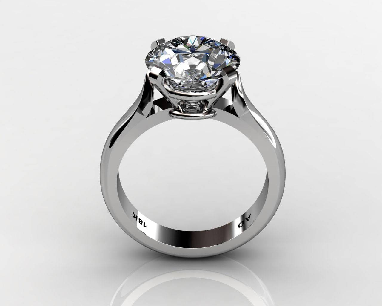 Round Cut Diamond Solitaire Engagement Wedding Ring South Bay Gold – Regarding Diamond Solitaire Wedding Rings (View 7 of 15)