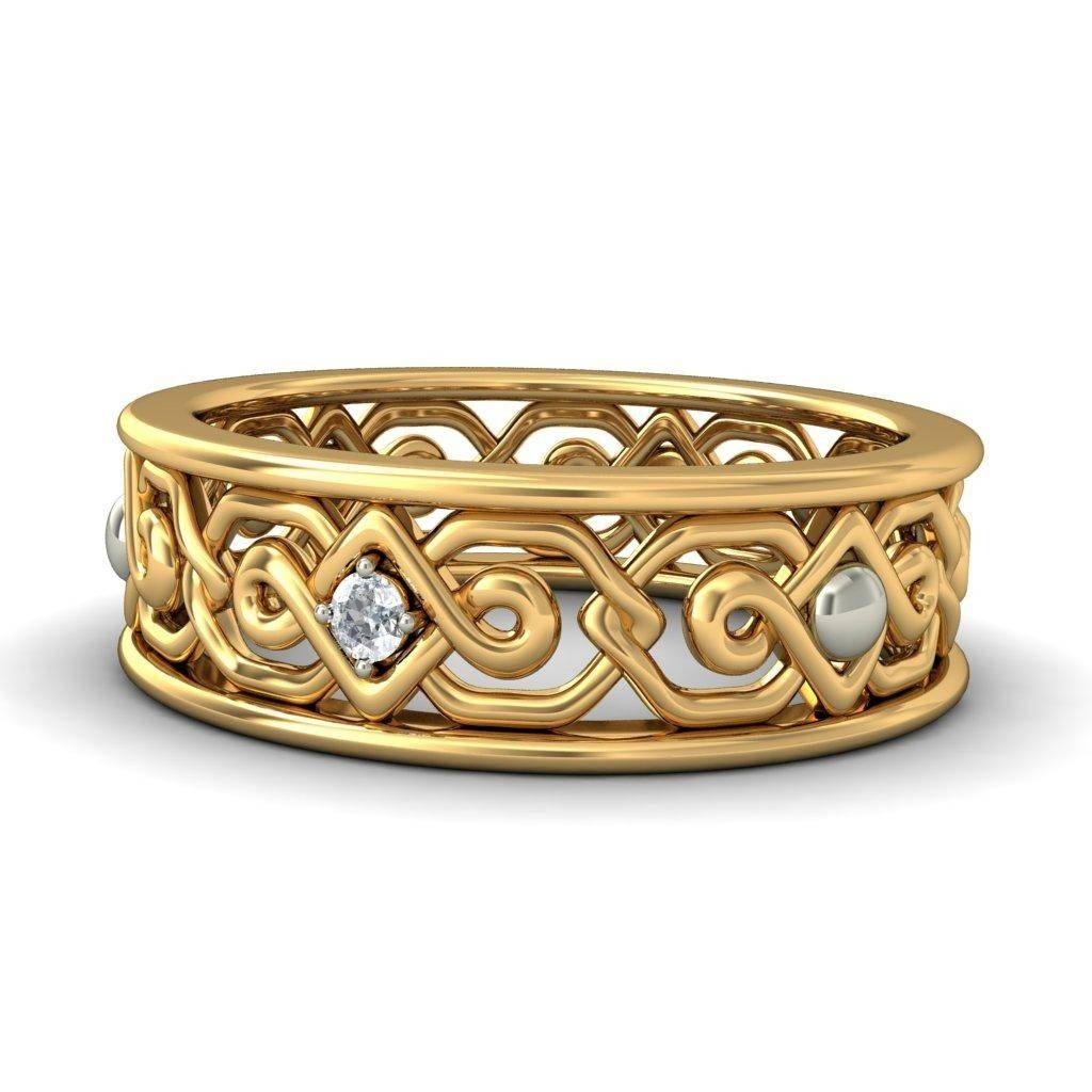 Round Diamond Antique Irish Design Engagement Ring – Jewelocean For Antique Irish Engagement Rings (View 9 of 15)