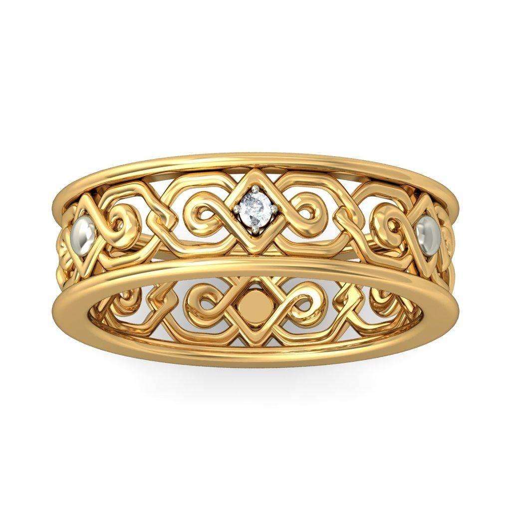 Round Diamond Antique Irish Design Engagement Ring – Jewelocean Throughout Antique Irish Engagement Rings (View 4 of 15)