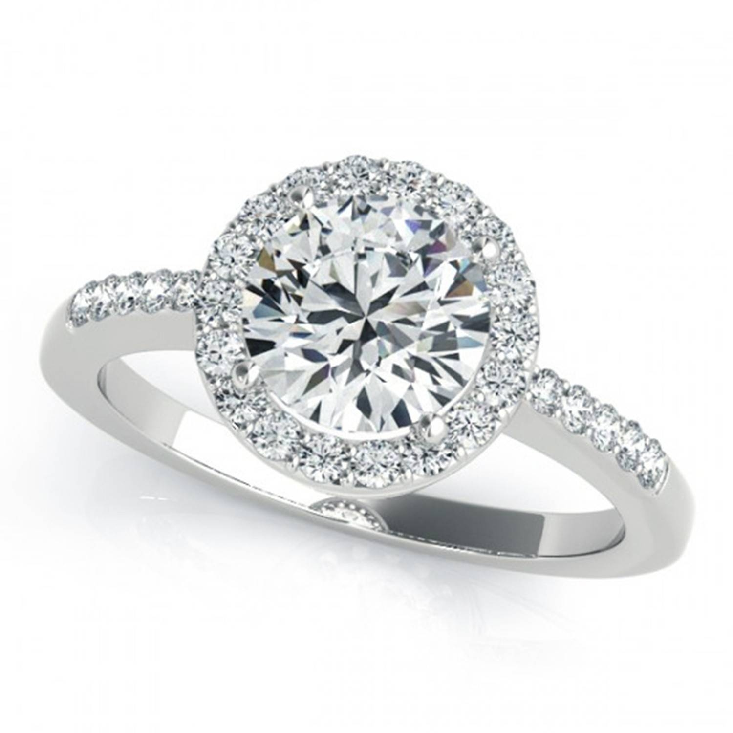 Round Diamond Engagement Rings | Wedding, Promise, Diamond Inside Certified Diamond Wedding Rings (View 11 of 15)
