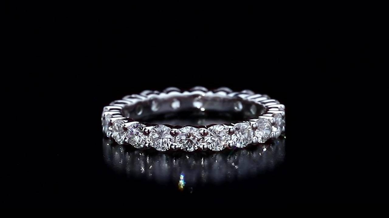 Round Diamond Eternity Band ( (View 14 of 15)