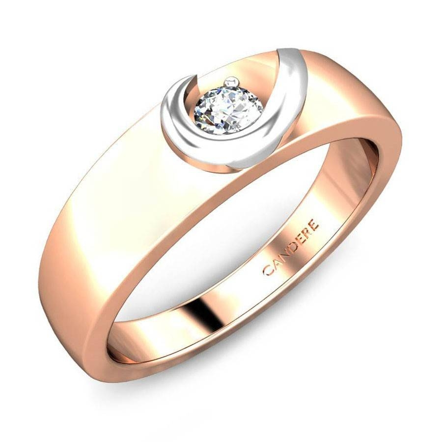 Round Diamond Rose Gold 18k | Bella Diamond Wedding Ring For Her Throughout Diamond Wedding Rings For Her (View 13 of 15)