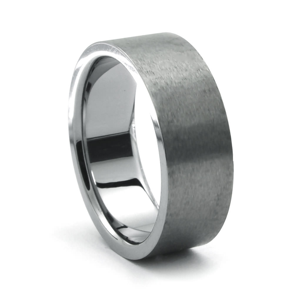 Rozzo Tungsten Carbide Band – Heavy Stone Rings – Men's Wedding Rings Inside Tungsten Wedding Bands (Gallery 73 of 339)