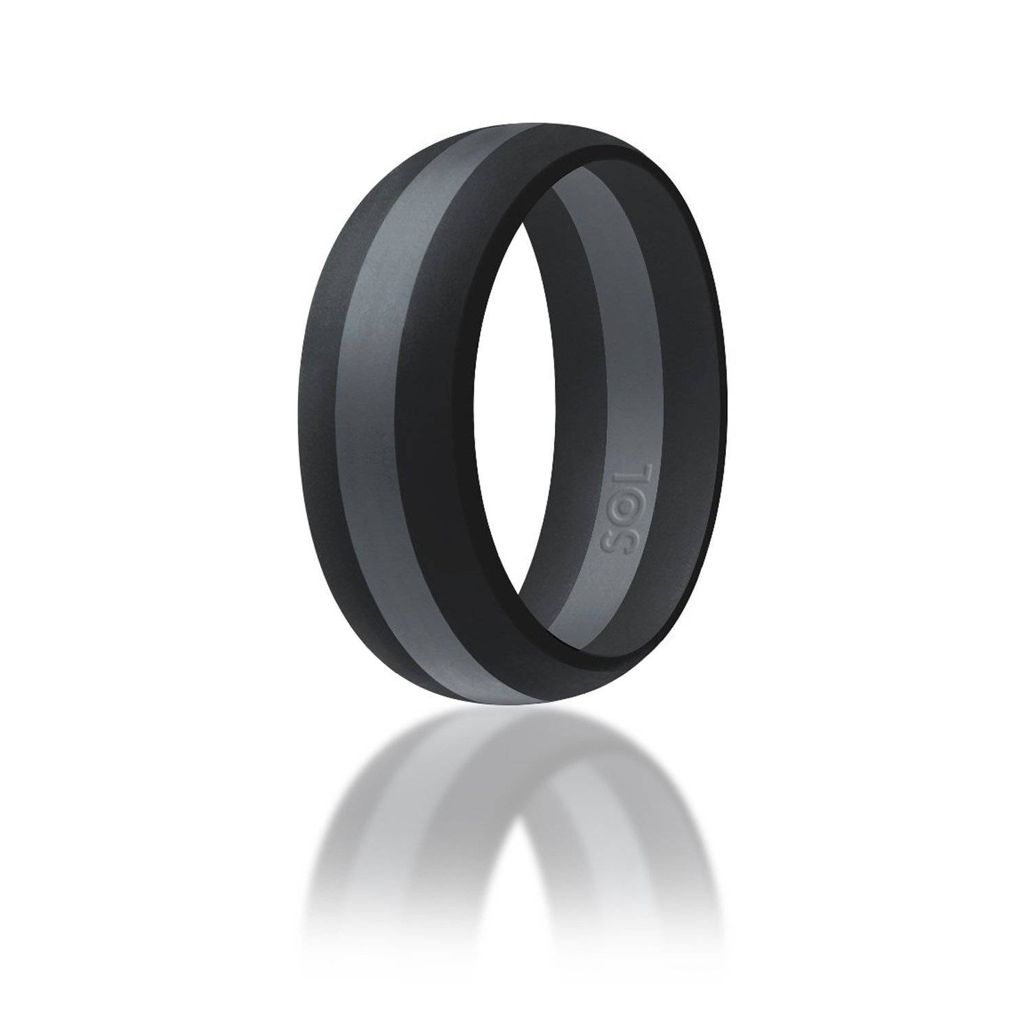 gauge ring o black bodycandy rings products rubber pack