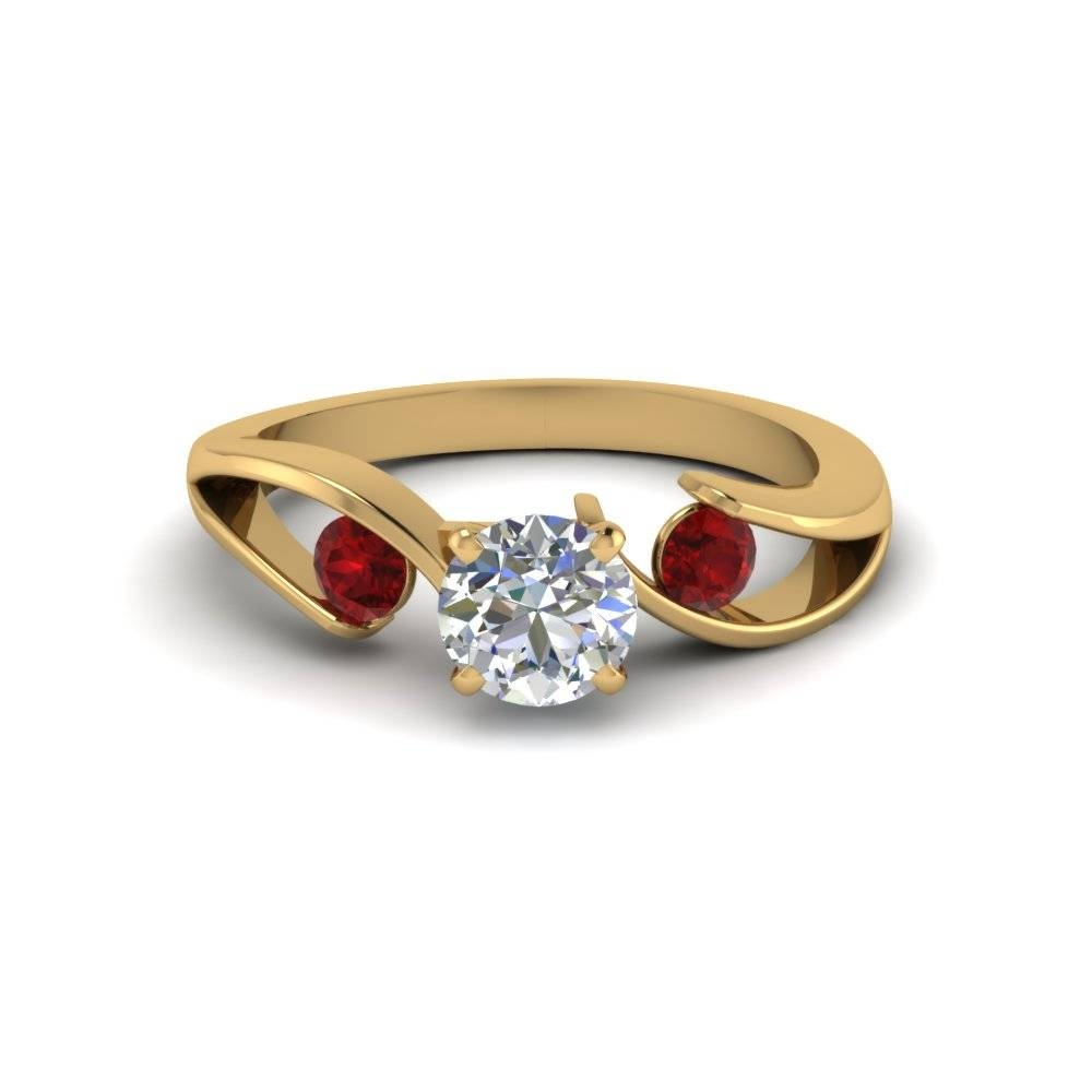 Ruby Engagement Rings | Fascinating Diamonds Pertaining To Gold Ruby Engagement Rings (View 3 of 15)
