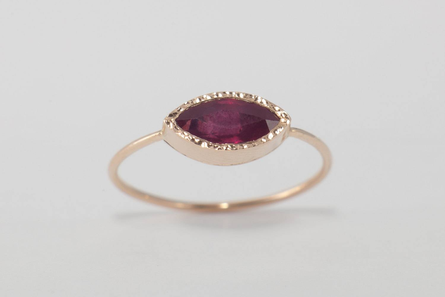 Ruby Ring , Ruby Engagement Ring, Simple Engagement, Natural Ruby Regarding Handcrafted Engagement Rings (View 4 of 15)