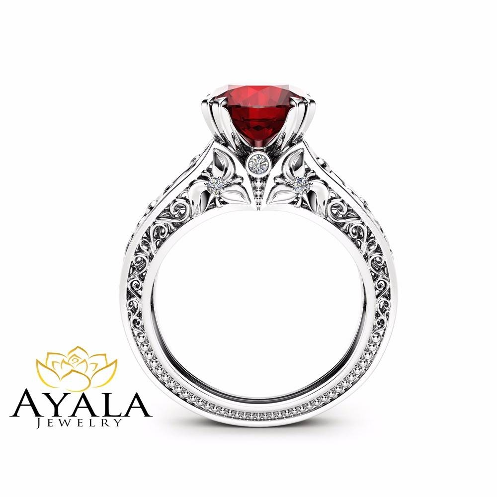 Ruby Ring: The Perfect Ring For You – Styleskier Pertaining To Ruby Engagement Rings White Gold (View 9 of 15)