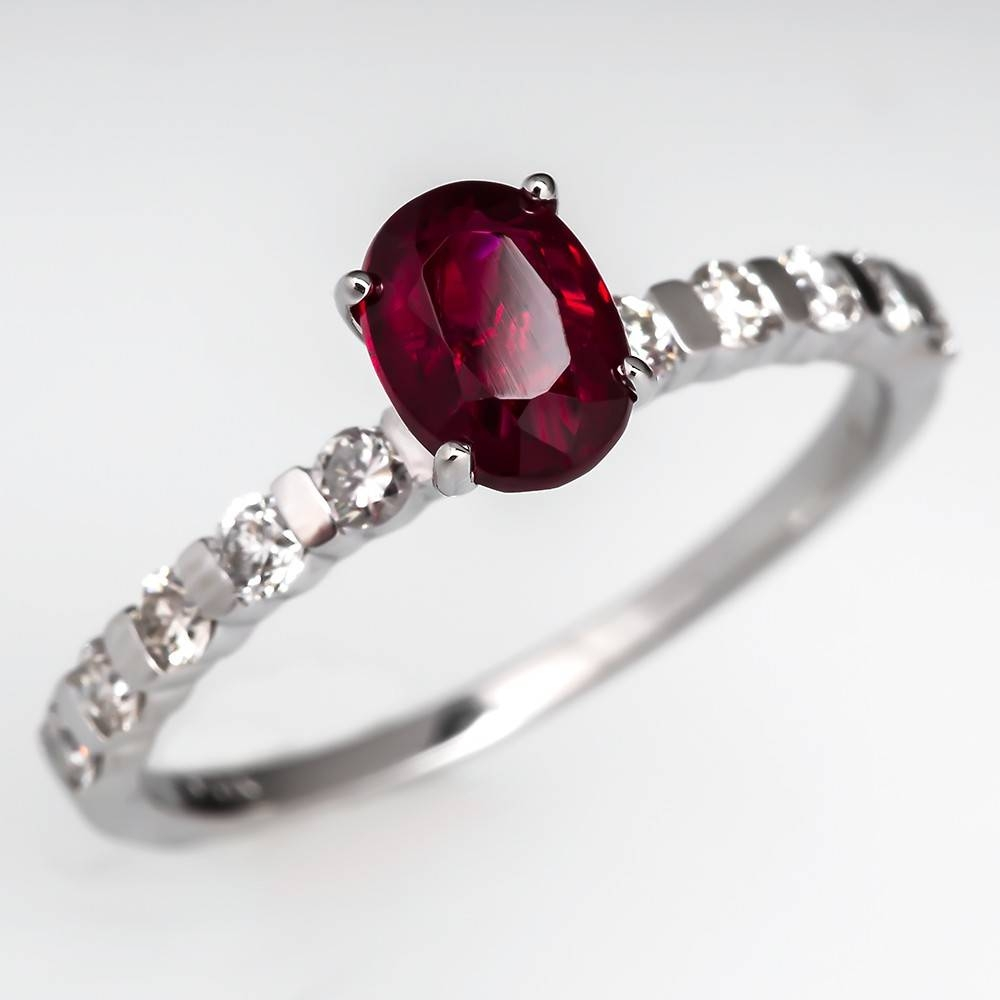 Ruby Rings – July Birthstone | Eragem Pertaining To White Gold Ruby Engagement Rings (View 13 of 15)
