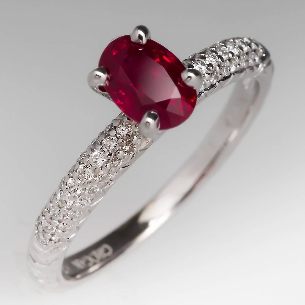 Ruby Rings – July Birthstone | Eragem Within Ruby Diamond Wedding Rings (View 11 of 15)