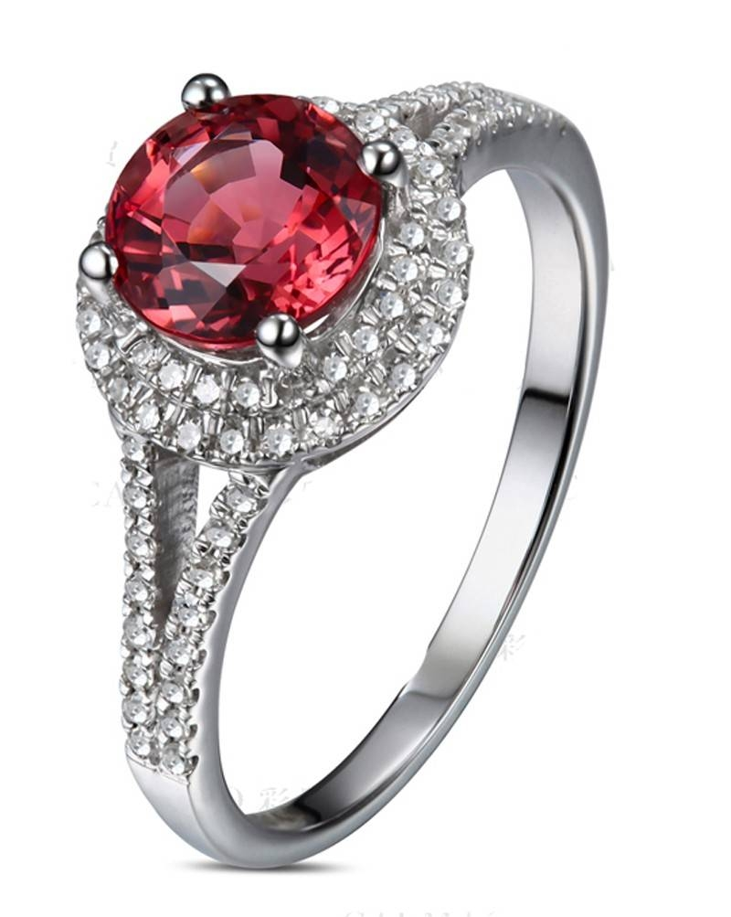 Ruby Rings | Ruby Engagement Rings | Ruby Diamond Rings In White Gold Ruby Engagement Rings (Gallery 15 of 15)