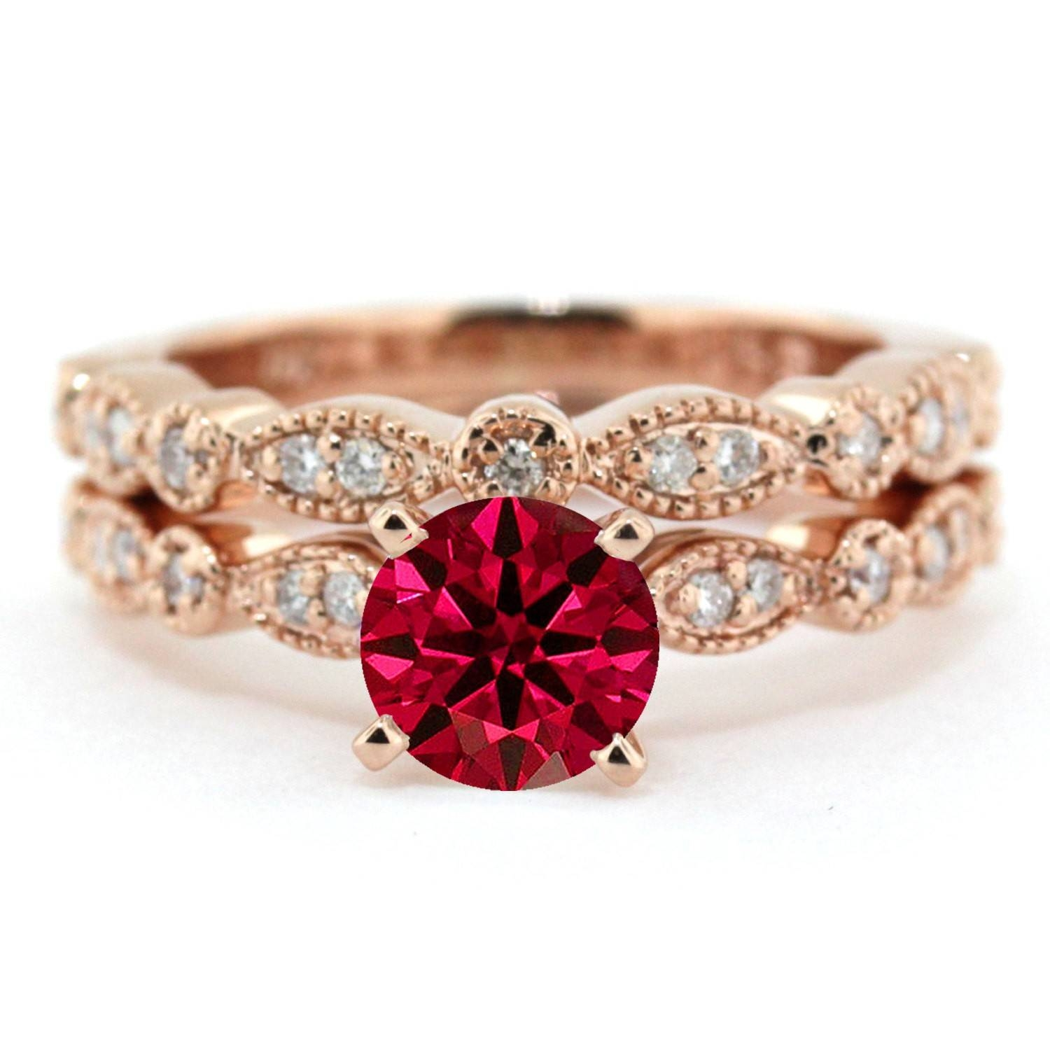 Ruby Rings | Ruby Engagement Rings | Ruby Diamond Rings Inside Gold Ruby Engagement Rings (View 8 of 15)