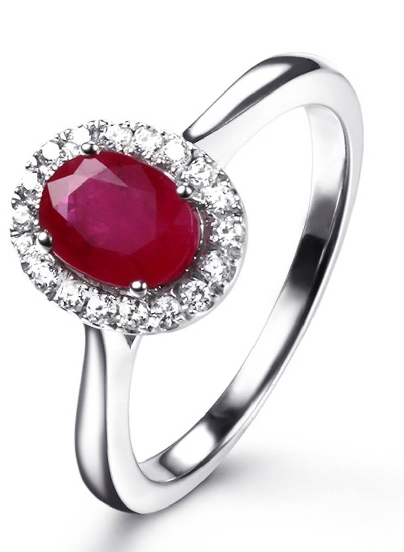 Ruby Rings | Ruby Engagement Rings | Ruby Diamond Rings Within Ruby Engagement Rings White Gold (View 5 of 15)
