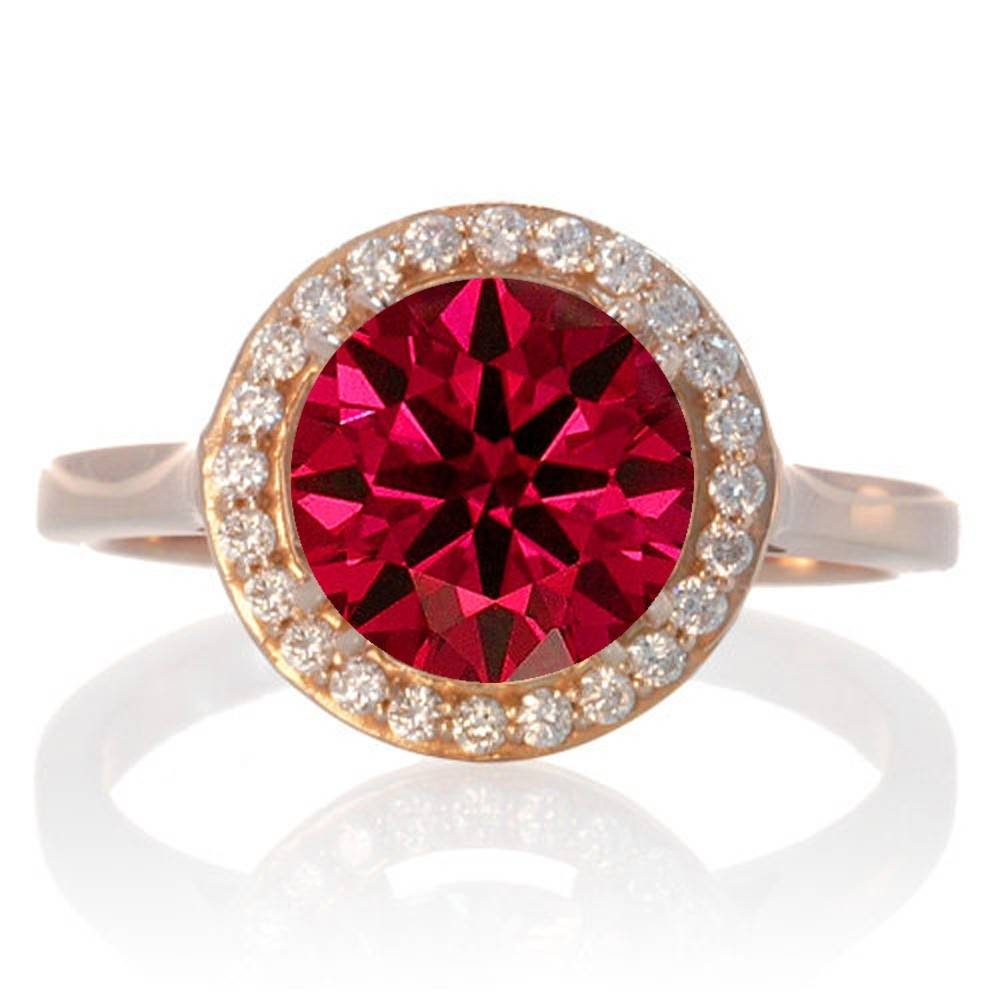 Ruby | Ruby Rings | Ruby Engagement Rings | Ruby Diamond Rings With Gold And Ruby Engagement Rings (View 9 of 15)