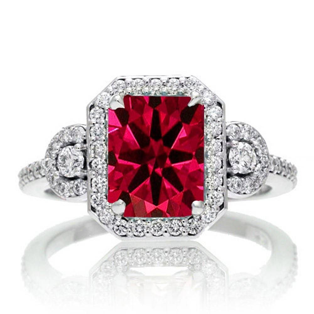 Ruby | Ruby Rings | Ruby Engagement Rings | Ruby Diamond Rings Within White Gold Ruby Engagement Rings (View 4 of 15)