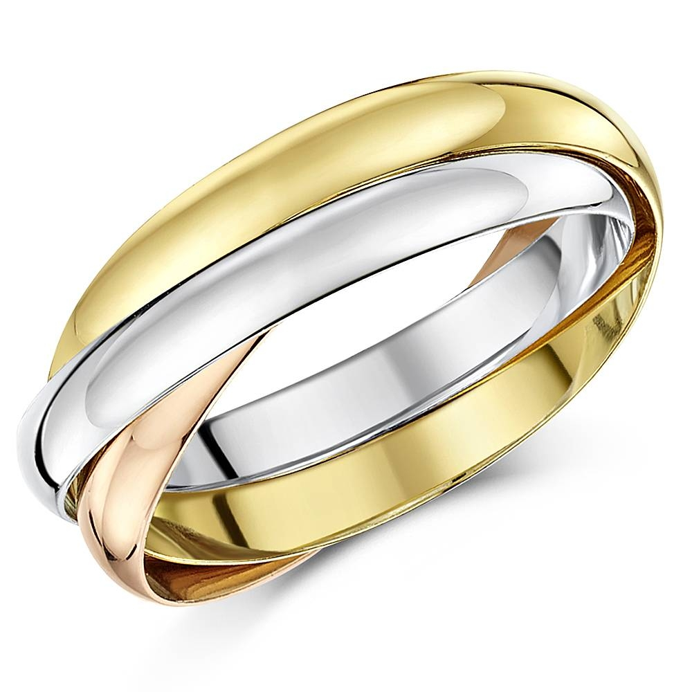 Russian Engagement Rings And Russian 3 Colour Gold Wedding Bands Regarding Russian Wedding Rings (View 10 of 15)