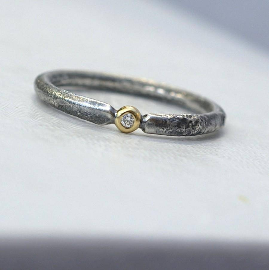 Rustic Diamond – Unique Engagement Ring With Small Diamond For Rustic Engagement Rings (View 10 of 15)