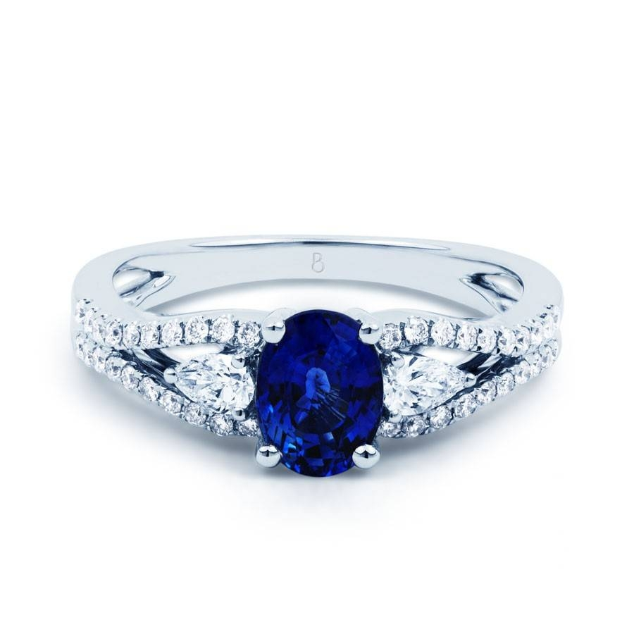 Sapphire And Diamond Engagement Rings – Sapphire Engagement Rings Throughout Saphire Engagement Rings (View 8 of 15)