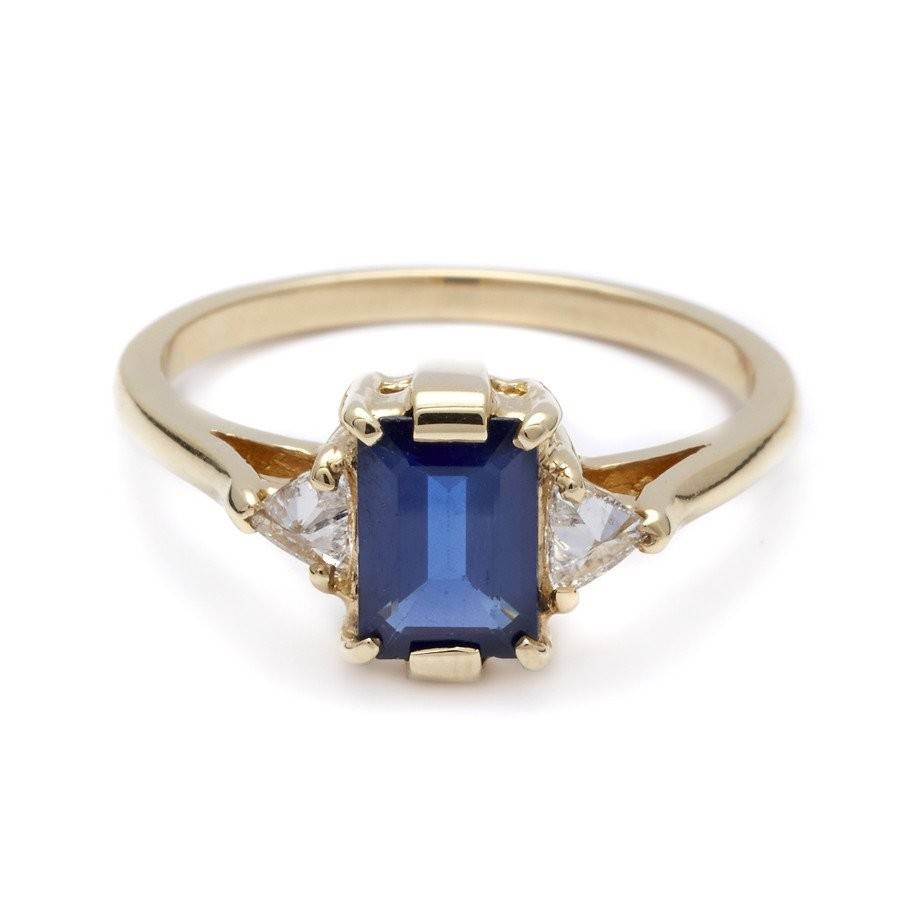 Sapphire Three Stone Bea Ring | M (View 14 of 15)