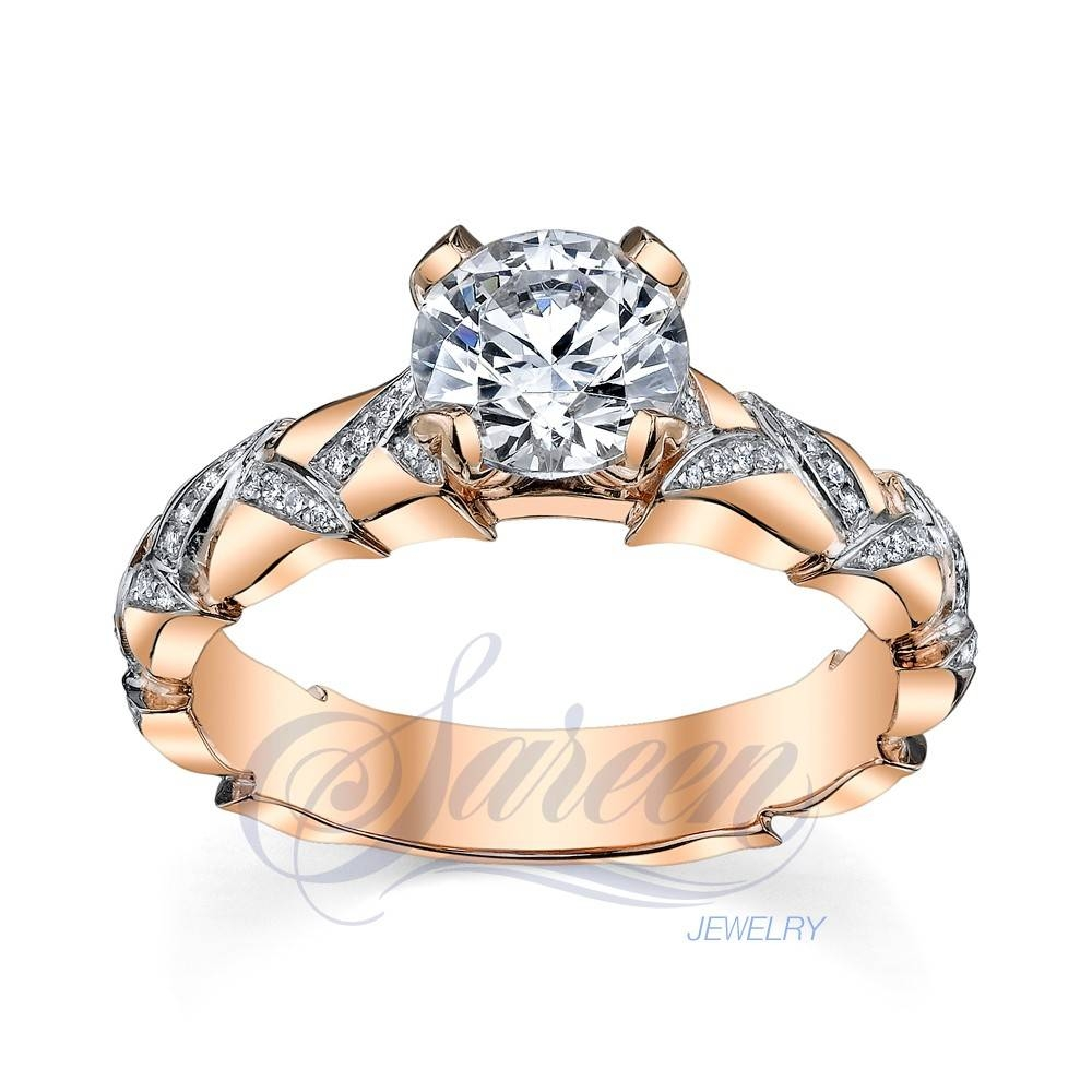 Sareen Irish Rose Ladies Diamond Ring Within Irish Diamond Engagement Rings (View 15 of 15)