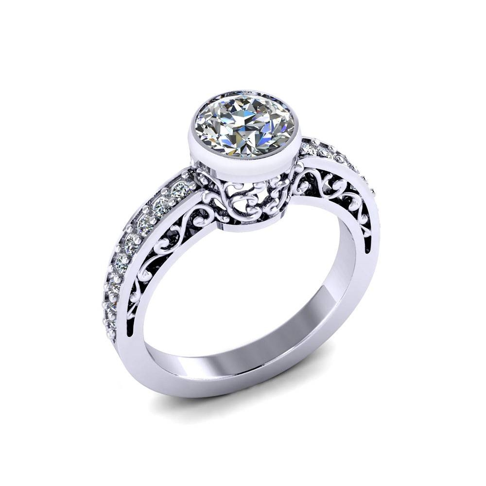 Scrolling Engagement Ring – Jewelry Designs Intended For Renaissance Engagement Rings (View 11 of 15)