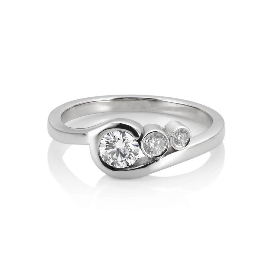 Sea Wave Ringeladore | Notonthehighstreet Pertaining To Wave Engagement Rings (View 10 of 15)