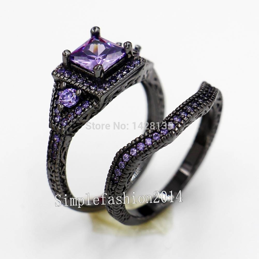 Search On Aliexpressimage Regarding Black Gold Diamond Wedding Rings (View 14 of 15)