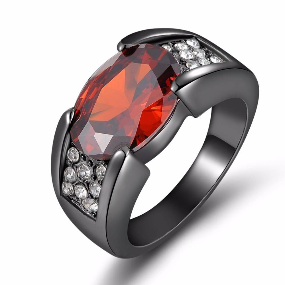 Search On Aliexpressimage Regarding Men's Garnet Wedding Bands (View 12 of 15)