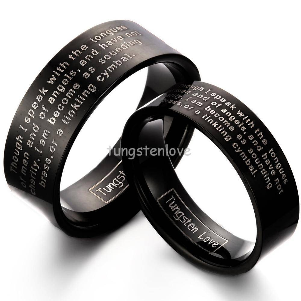 Search On Aliexpressimage Within Flat Black Wedding Bands (View 14 of 15)