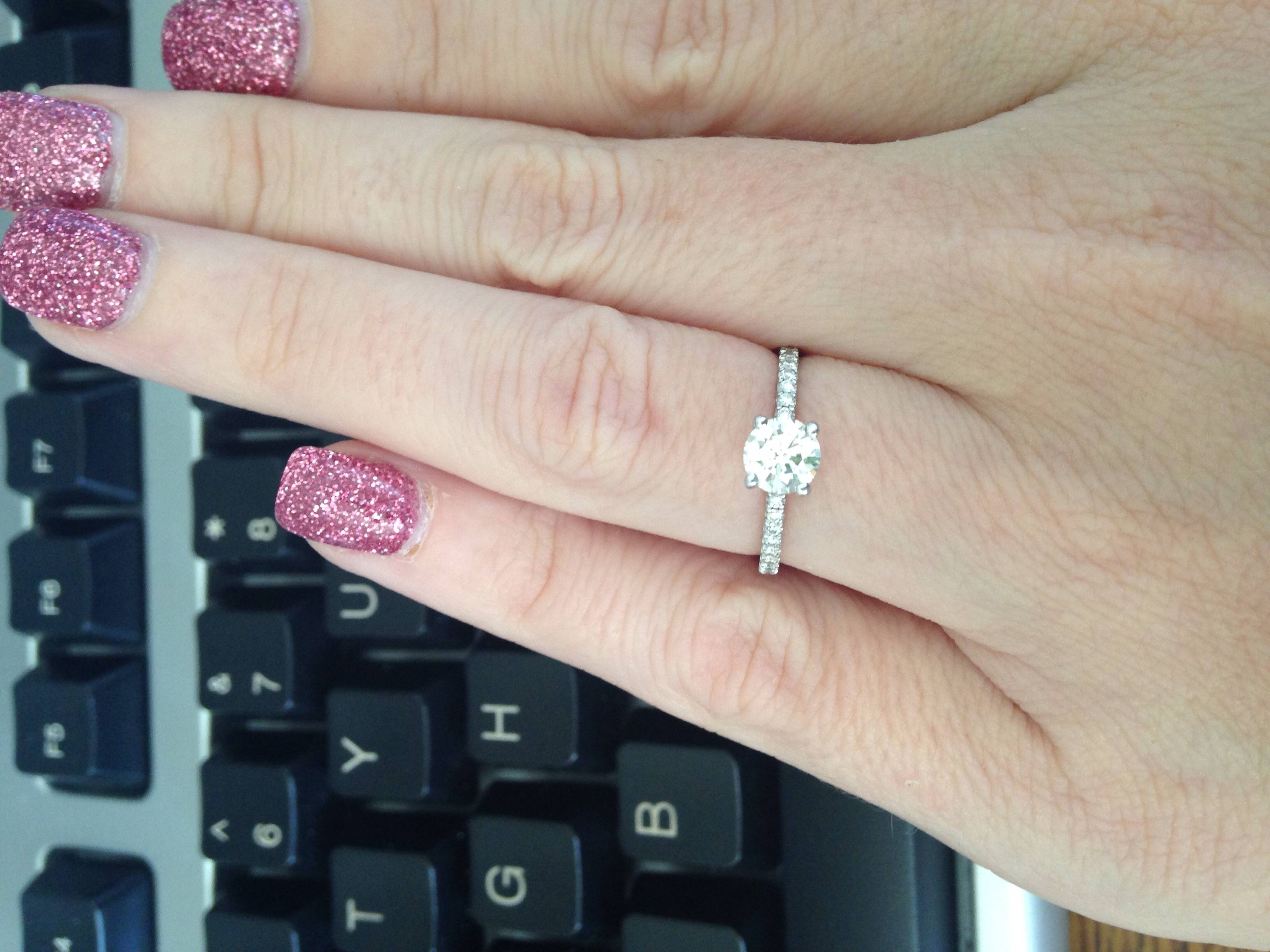 Seeking Pics Of 1/2 Carat To 3/4 Carat Diamond E Rings On Size 5 With Size 4 Diamond Engagement Rings (View 11 of 15)