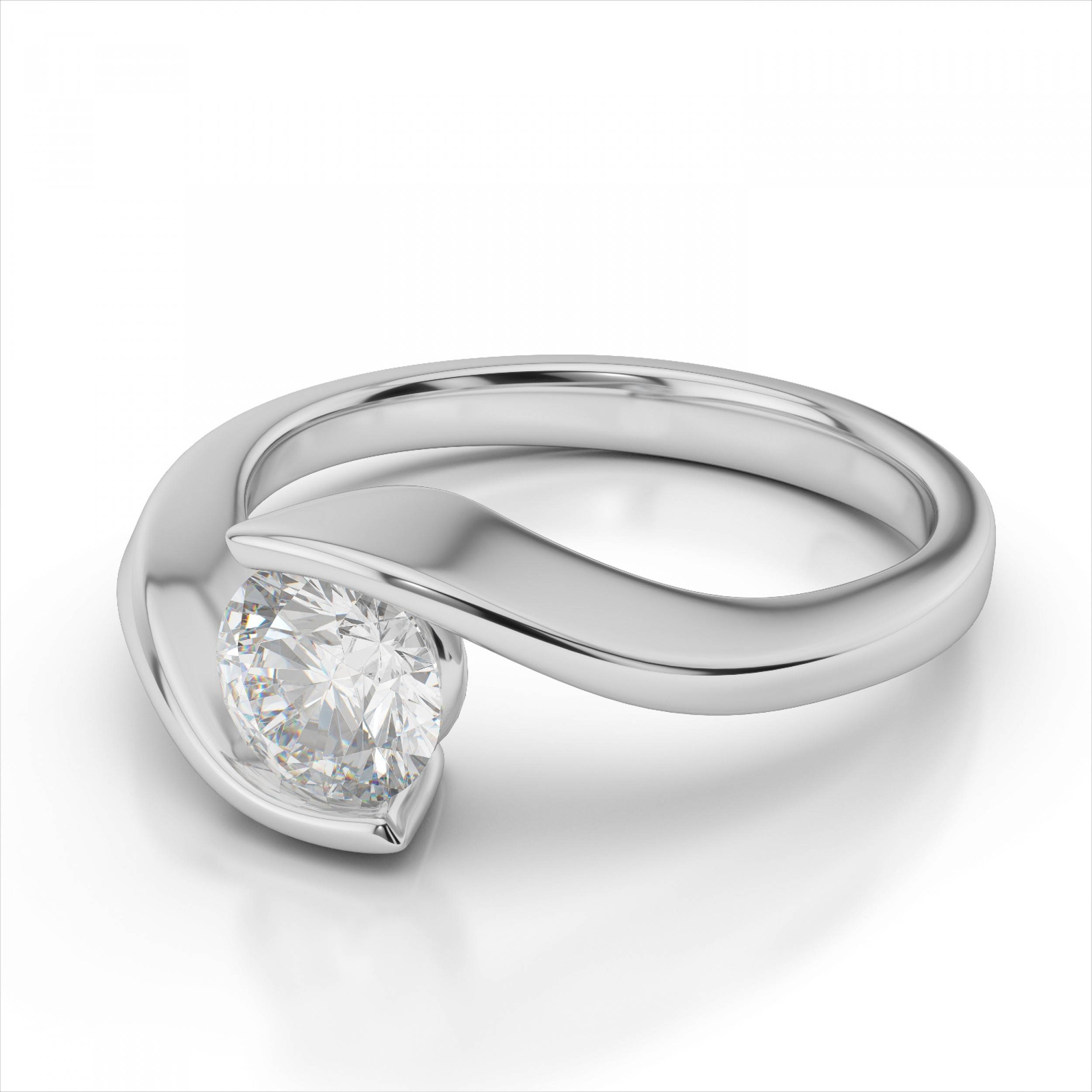 Featured Photo of Tension Set Engagement Rings With Wedding Bands
