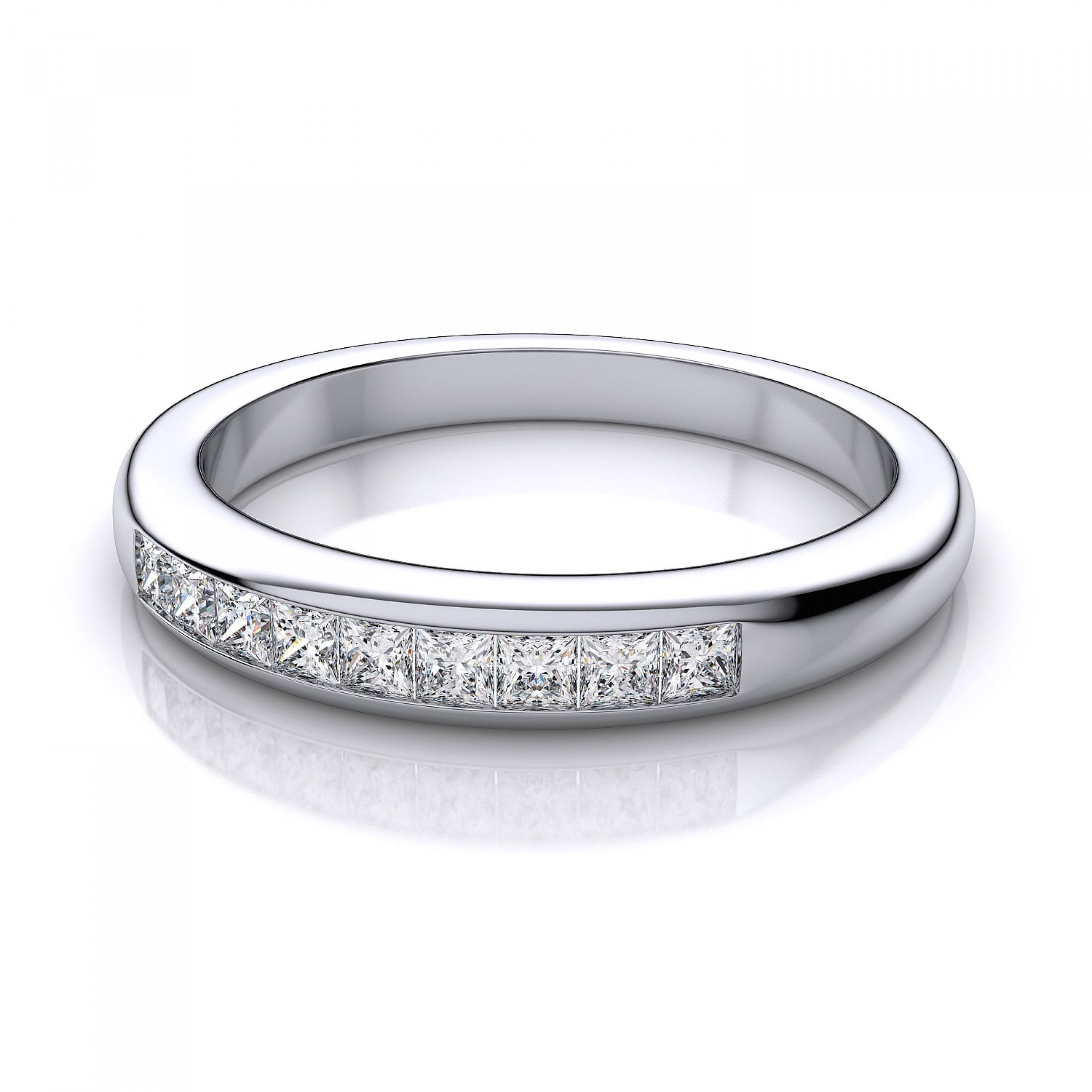 Set Diamond Wedding Band In 14k White Gold I1 I Pertaining To White Gold And Diamond Wedding Rings (View 11 of 15)