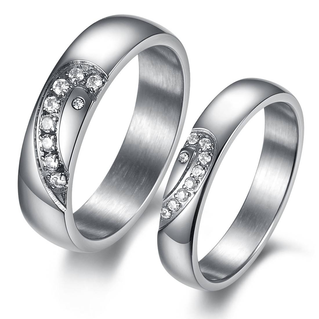 Several Ideas Of His And Hers Wedding Rings | Wedding Ideas In Matching Wedding Bands Sets For His And Her (View 14 of 15)