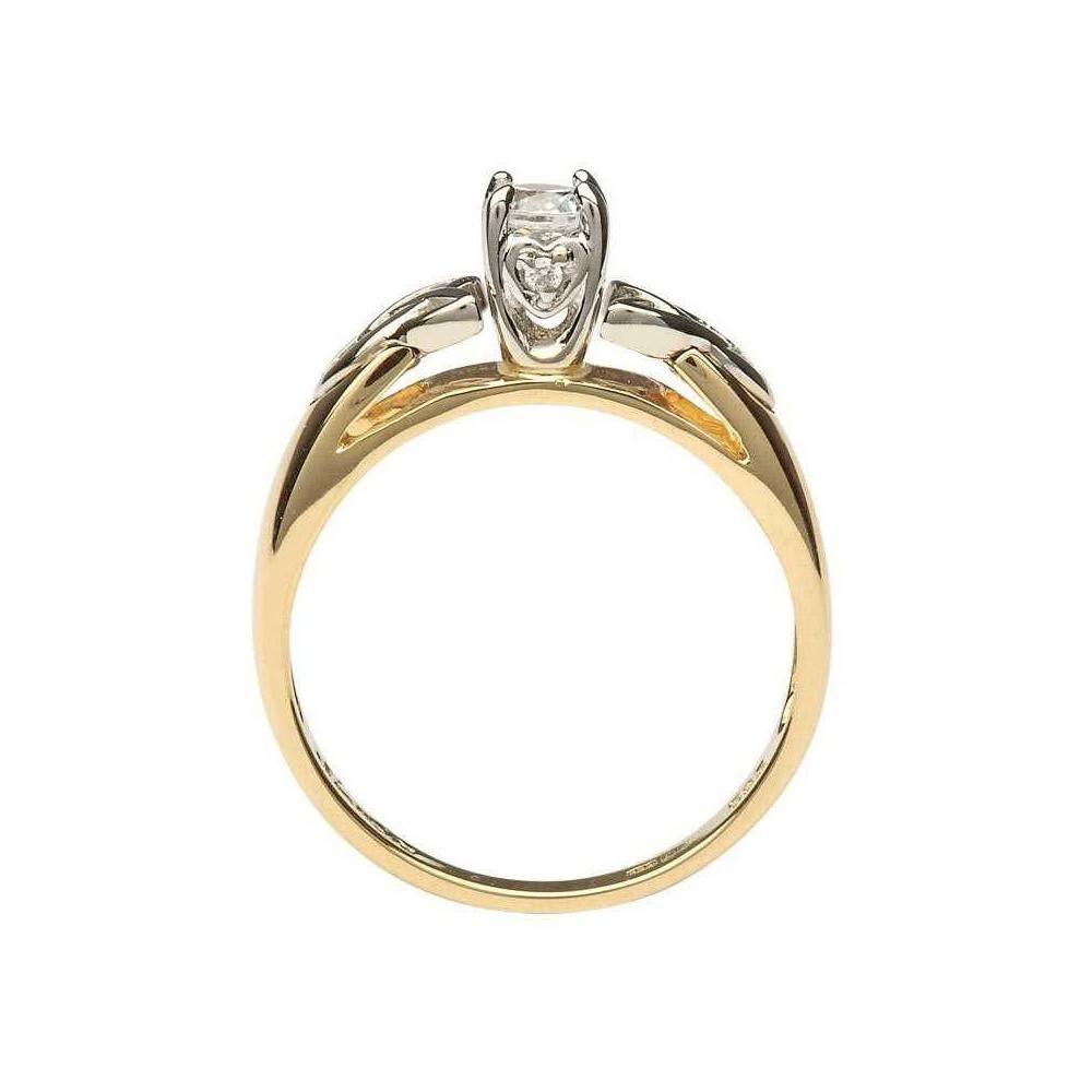 Shanore Diamond Solitaire Engagement Ring With Trinity Knot Design Inside Trinity Knot Engagement Rings (View 9 of 15)