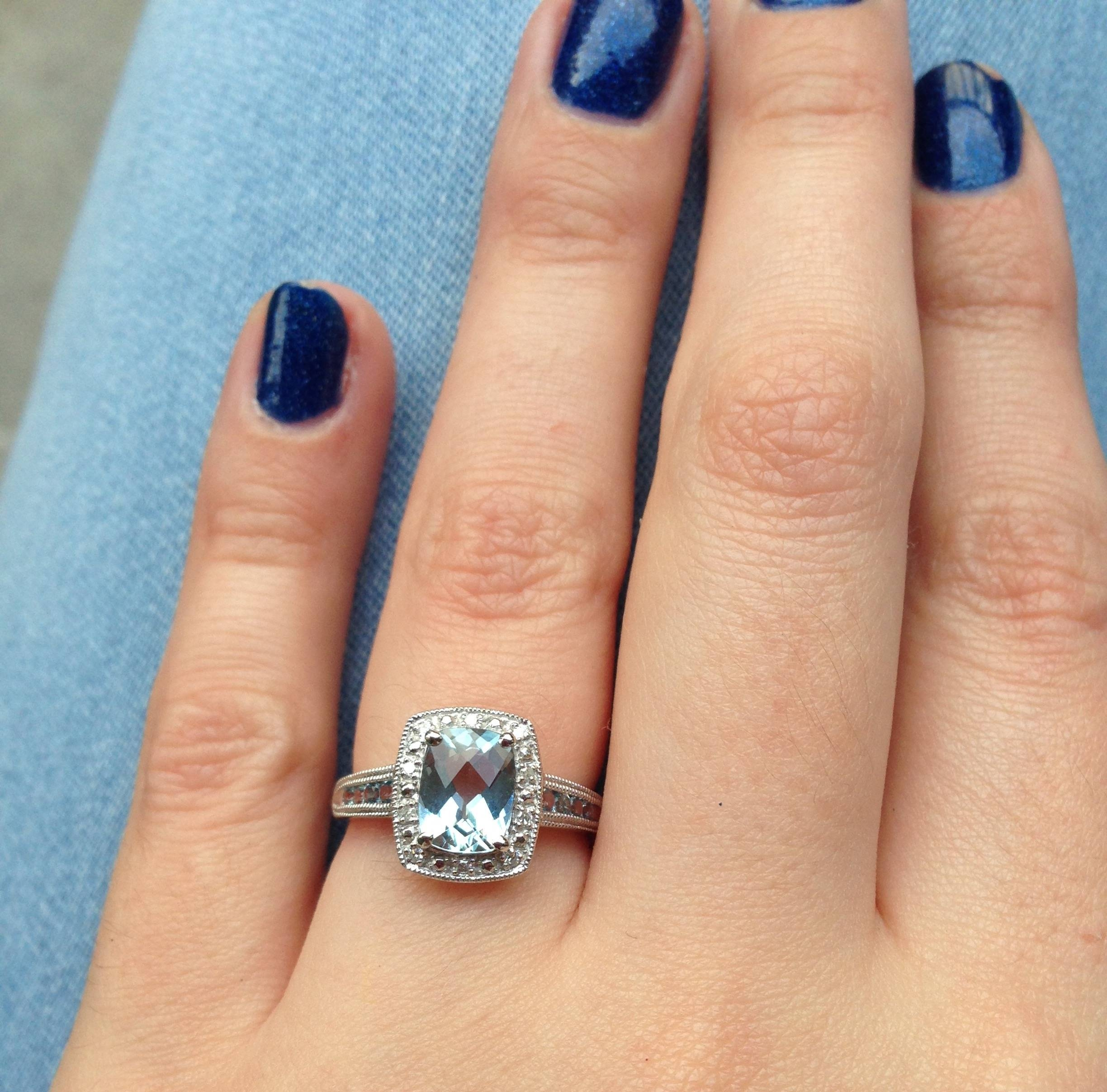 Share Your Non Diamond Engagement Rings! – Weddingbee In Weddingbee Engagement Rings (View 11 of 15)