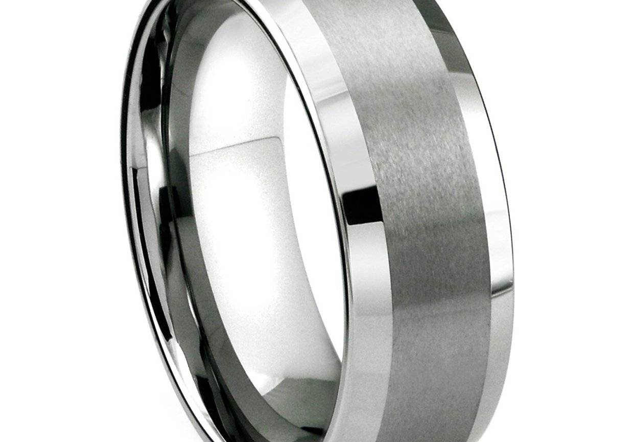 Shining Mens Titanium Wedding Bands Size 14 Tags : Mens Black With Regard To Size 14 Men's Wedding Bands (View 13 of 15)