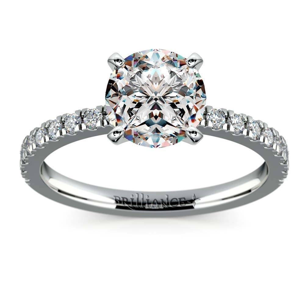 Shop Beautiful Diamond Engagement Rings & Settings Pertaining To Inset Engagement Rings (Gallery 8 of 15)