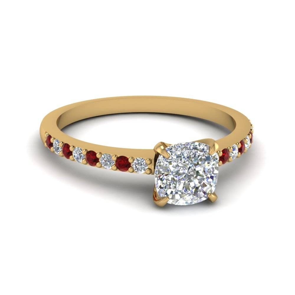 Shop Diamond Engagement Rings | Fascinating Diamonds – New York Pertaining To Gold Ruby Engagement Rings (View 14 of 15)