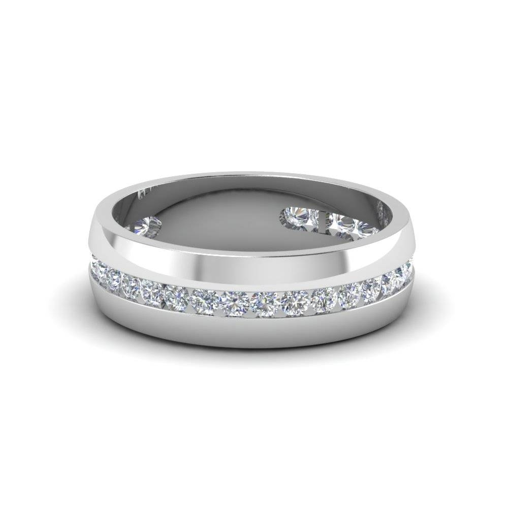 Shop For Affordable 18k White Gold Mens Wedding Rings For White Gold Wedding Rings For Men (View 15 of 15)