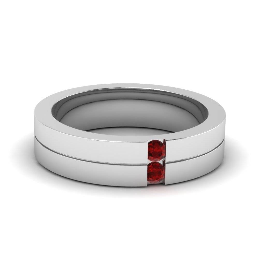 Featured Photo of Men's Wedding Bands With Ruby